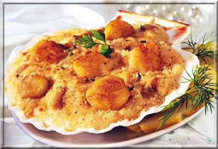 Coquilles saint jacques la bretonne a vos assiettes recettes de cuisine illustr es - Coquille saint jacques maison ...