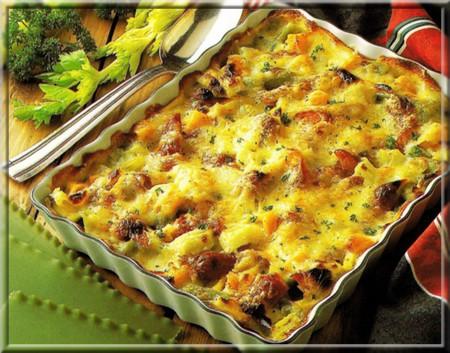 lasagnes aux saucisses et carottes a vos assiettes recettes de cuisine illustr es. Black Bedroom Furniture Sets. Home Design Ideas