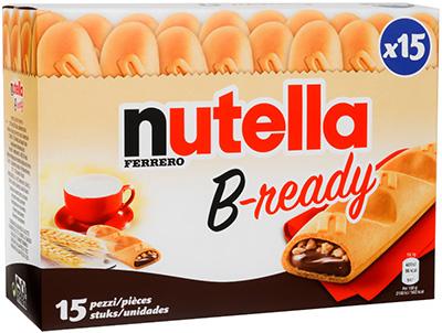 nutella innove et lance b ready au rayon biscuits a vos assiettes recettes de cuisine. Black Bedroom Furniture Sets. Home Design Ideas