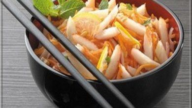 Photo de Salade Acidulée Surimi-Cacahuètes