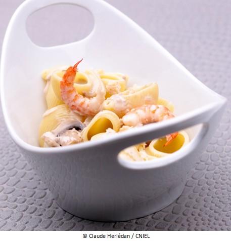 p tes aux fruits de mer a vos assiettes recettes de. Black Bedroom Furniture Sets. Home Design Ideas