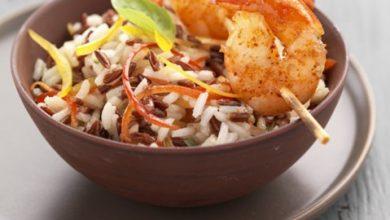 Photo de Salade de Riz de Camargue IGP aux Poivrons et Crevettes Grillés