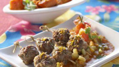 Photo de Boulettes de bœuf à la créole, fricassée de patates douces aux épices