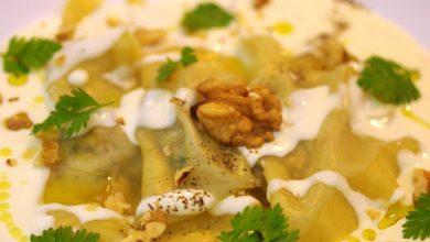 Photo de Ravioles à la bûchette affinée, aux noix, miel et romarin
