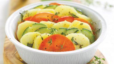 Photo de Bayeldi pommes de terre, courgette et tomate, pesto aux tomates confites