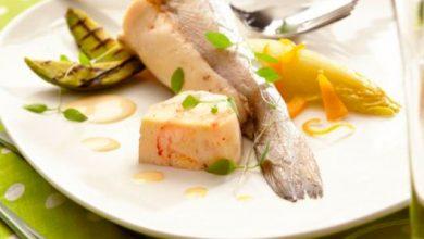 Photo de Mousseline de merlan aux écrevisses & sa sauce au Crémant d'Alsace et pamplemousse