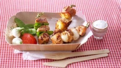 Photo de Brochettes de poulet, sauce au yaourt