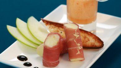 Photo de Cannellonis de jambon cru Compagnons du Goût et émulsion de melon