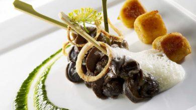 Photo de Escargots de Bourgogne en fricassée, purée de persil & jus d'ail gnocchis de pomme de terre