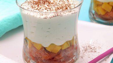Photo de Tiramisu « express » à la mangue et mousse au chocolat blanc Monbana
