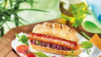 Photo de Hot-dog saucisse au piment d'Espelette