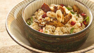 Photo de Salade de riz au canard et à la grenade
