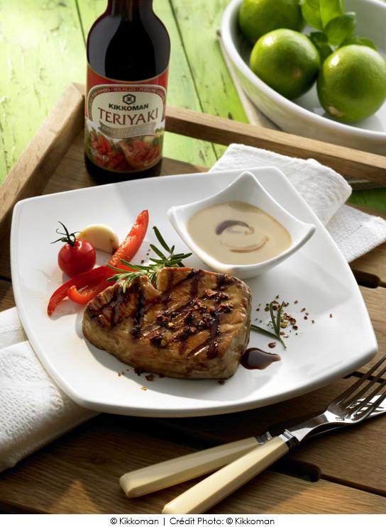 steaks de thon la teriyaki a vos assiettes recettes de cuisine illustr es. Black Bedroom Furniture Sets. Home Design Ideas