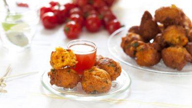 Photo de Accras au saumon et à la tomate