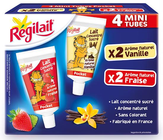 R gilait pr sente ses mini tubes de lait concentr sucr for Regilait cuisine