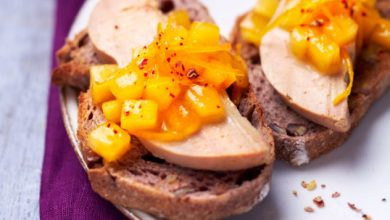Photo de Tartine au foie gras & Persimon®