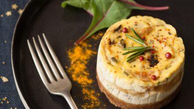 Photo de Cheese-cake de Chapon et mélange forestier