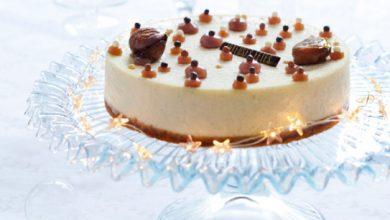Photo de Cheesecake vanille-marrons glacés