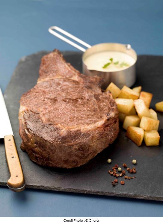 C te de b uf cuite basse temp rature fondant de pommes de terre et sauce b arnaise maison a - Temps cuisson cote de boeuf ...