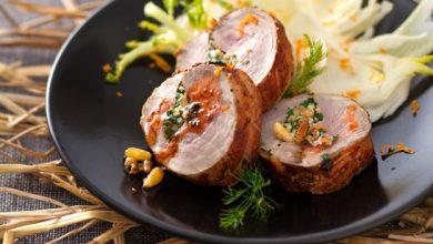 Photo de Filet mignon Nouvelle Agriculture® farci aux herbes cuit au foin, salade de fenouil à l'orange