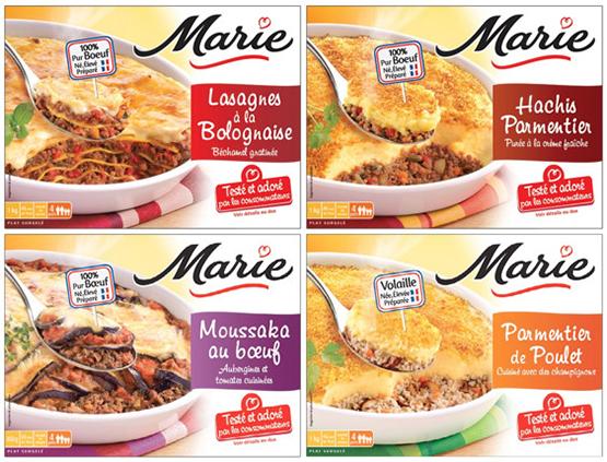 Marie pr sente sa nouvelle gamme de plats familiaux a for Plats cuisines marie