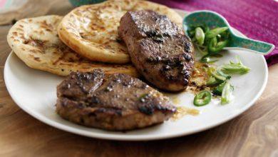 Photo de Steak de Gigot d'Agneau Gallois IGP Façon Thaï accompagné d'une Salade de Tomates au Gingembre