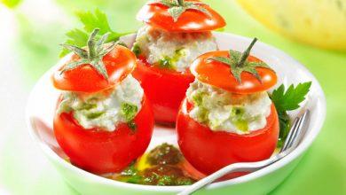 Photo de Tomates Cerises Farcies à la Fourme de Montbrison et son Coulis de Persil