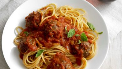 Photo de Boulettes de viande sur spaghettis