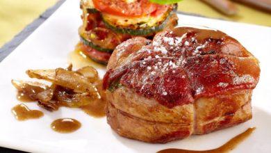 Photo de Grenadin de veau et gratin à la tomate, courgette au parmesan