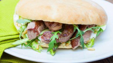Photo de Sandwichs à l'émincé d'Agneau Presto, fromage de brebis et asperges vertes