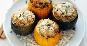 Courgettes farcies au thon et au riz
