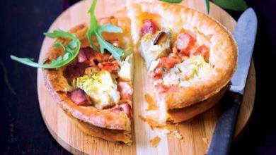 Photo de Tarte au gorgonzola et cœurs d'artichauts