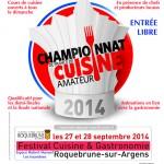 1er Festival Cuisine & Gastronomie de Roquebrune sur Argens, du 26 au 28 septembre 2014
