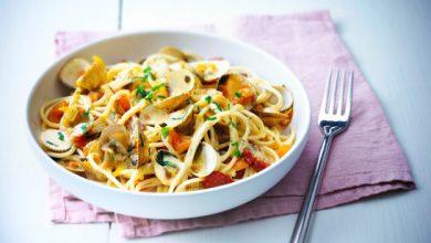 Photo de Spaghetti aux coques et chorizo