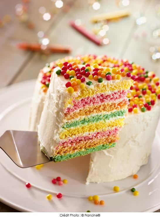 Rainbow Cake A Vos Assiettes