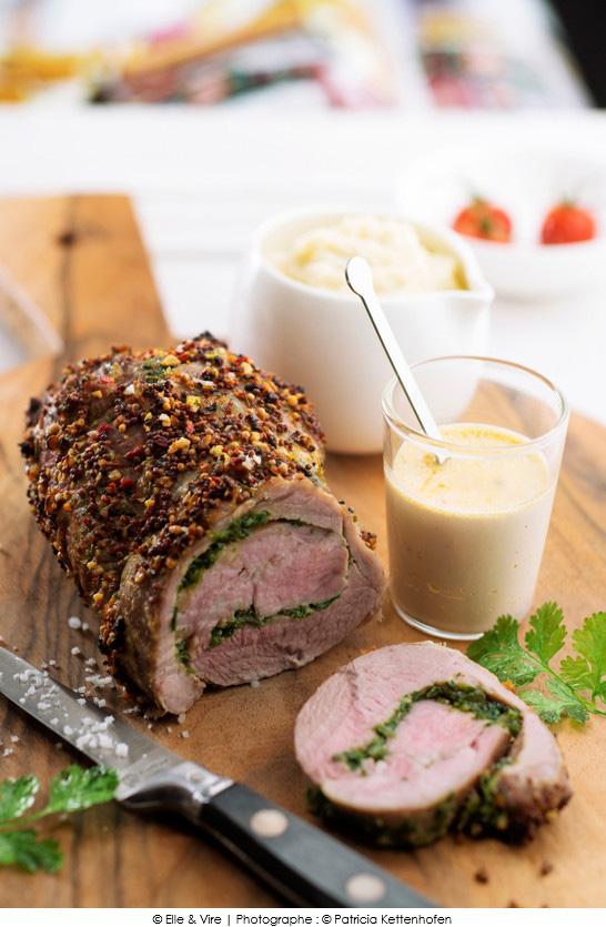 R ti d 39 agneau aux herbes cr me au poivre a vos assiettes recettes de cuisine illustr es - Roti d agneau cuisson ...