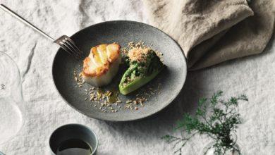 Photo de Skrei rôti au beurre, brocoli et noisettes