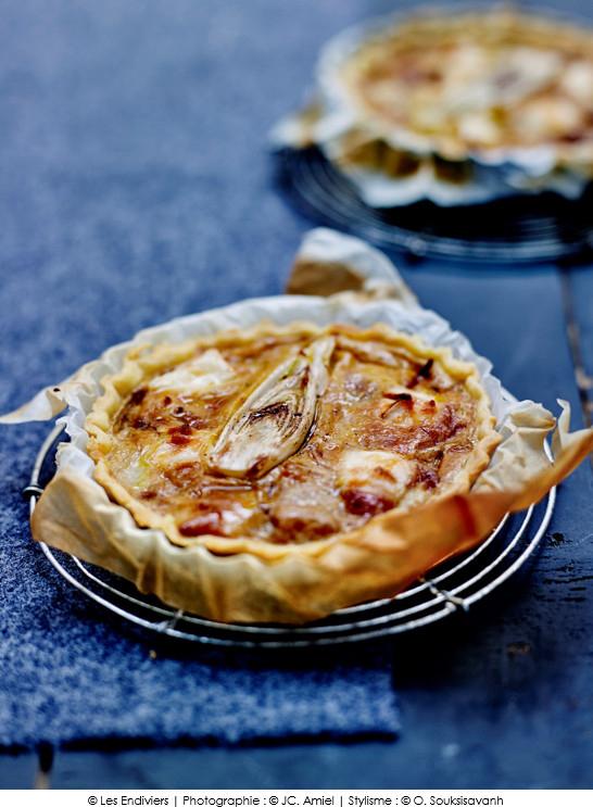 Tartelettes la fondue d 39 endives poireaux et fromage de - Recette cuisine telematin carinne teyssandier ...