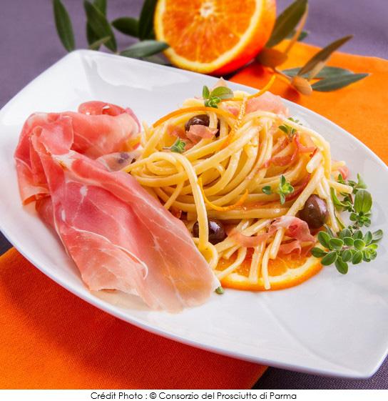 linguine_a_l_orange_olives_cailletier_et_jambon_de_parme