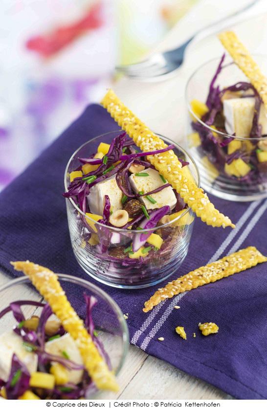 Salade de chou rouge mangue raisins noisettes et mini - Cuisiner un chou rouge ...