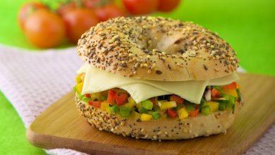 Photo de Bagel végétarien au fromage Roq'Croque de Société®