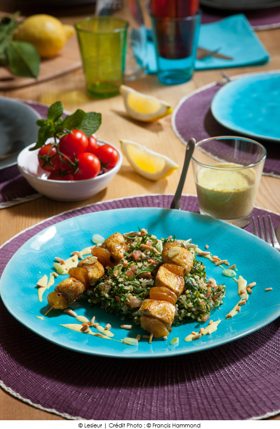 grillade_de_volaille_au_curry_taboule_vert_de_persil_a_la_libanaise