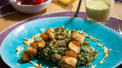 Photo de Grillade de volaille au curry taboulé vert de persil à la Libanaise