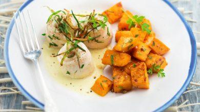Photo de Filet de limande sole, patates douces et crème cardamome