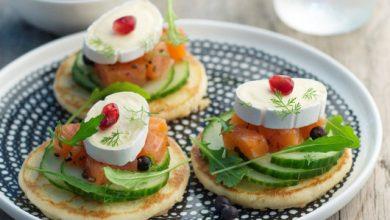 Photo de Pancakes saumon, poivres et En Cas de Caprice