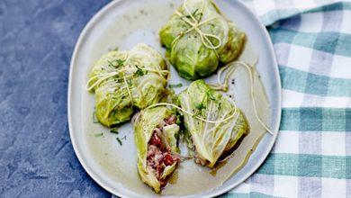 Photo de Pieds de porc croustillants en petits paquets verts