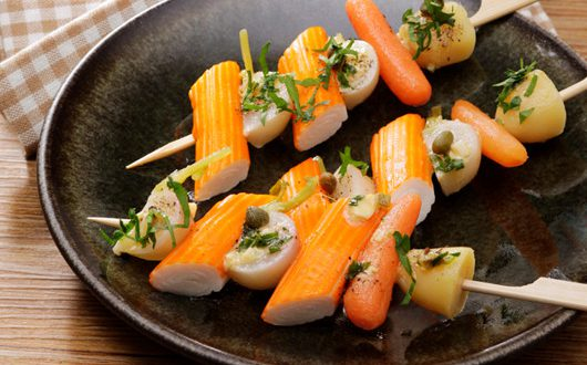 mini brochettes de surimi fa on navarin sauce gribiche a vos assiettes recettes de cuisine. Black Bedroom Furniture Sets. Home Design Ideas
