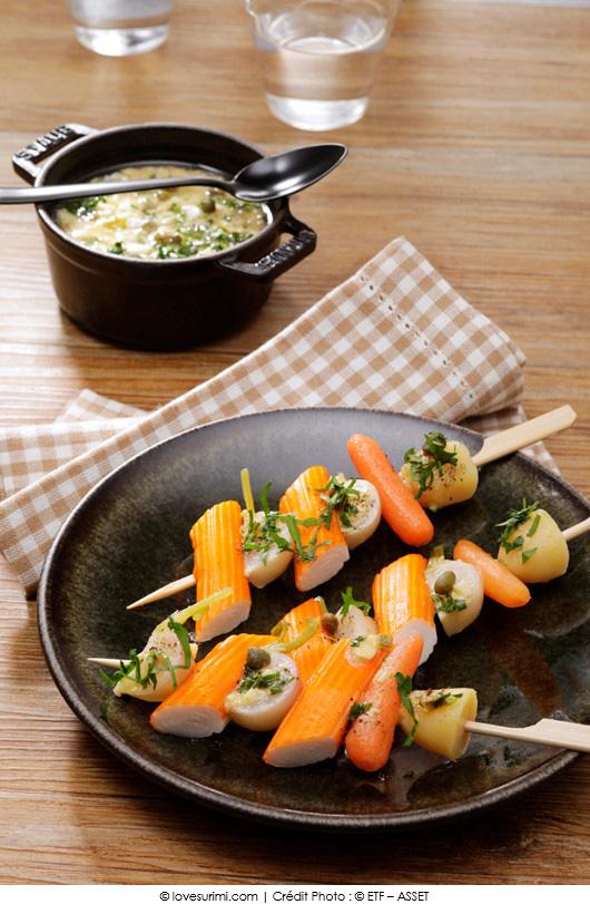 mini-brochettes-de-surimi-facon-navarin-sauce-gribiche