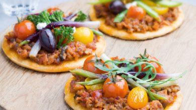 Photo de Mini pizze veggie au Pesto Rustico Légumes Méditerranéens Barilla©