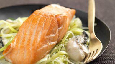 Photo de Pavés de saumon écossais Label Rouge aux huîtres à l'estragon